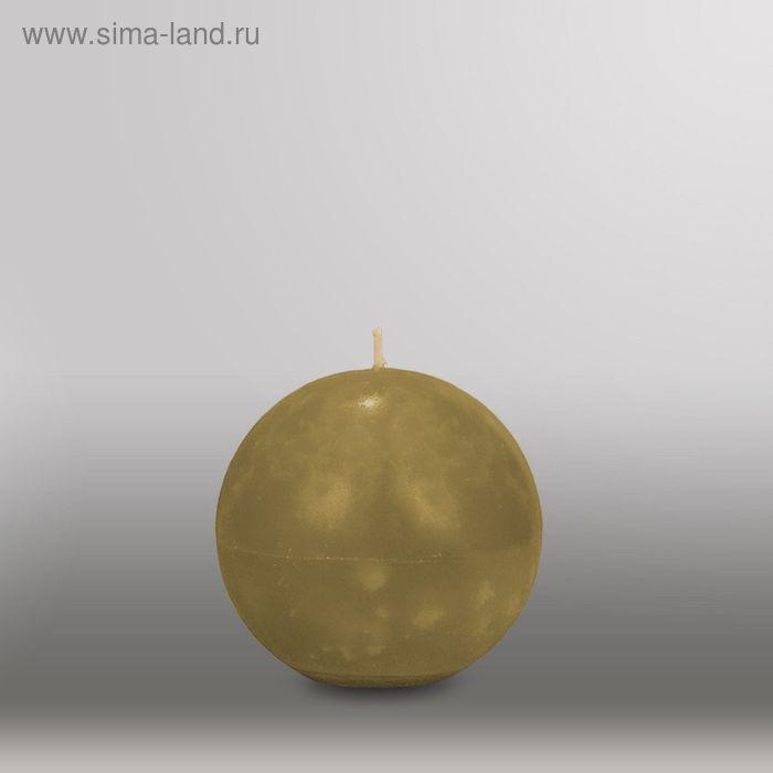 "Свеча шар ""Мрамор"", d=100мм,  оливковый"