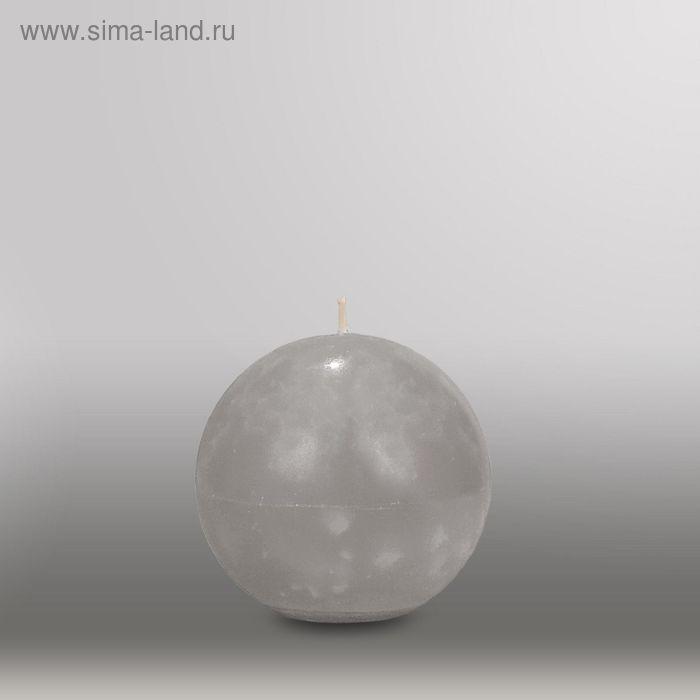 "Свеча шар ""Мрамор"", d=100мм,  дымчато-голубой"