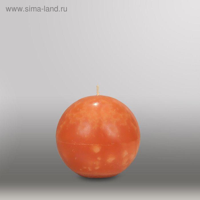 "Свеча шар ""Мрамор"", d=100мм,  облепиховый"