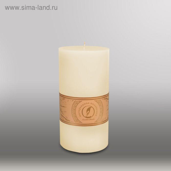 """Свеча цилиндр """"Классика"""", 100x205мм,  слоновая кость"""