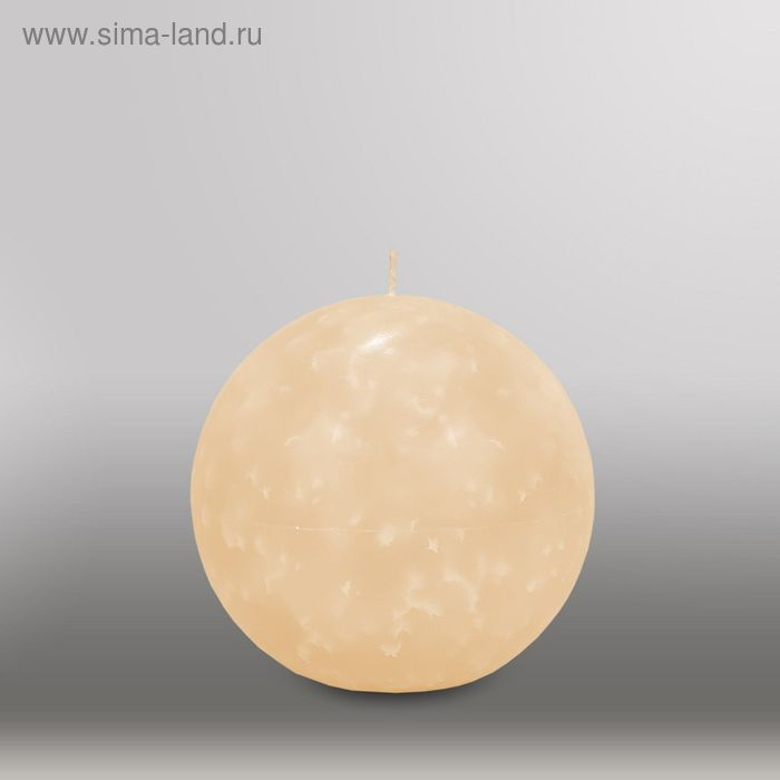 "Свеча шар ""Мрамор"", d=125мм,  кремовый"