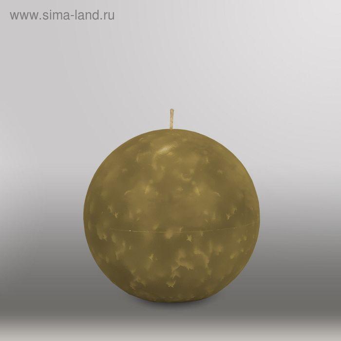 "Свеча шар ""Мрамор"", d=125мм,  оливковый"