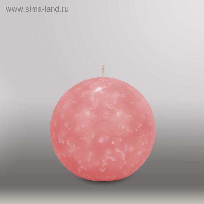 "Свеча шар ""Мрамор"", d=125мм,  розовый"