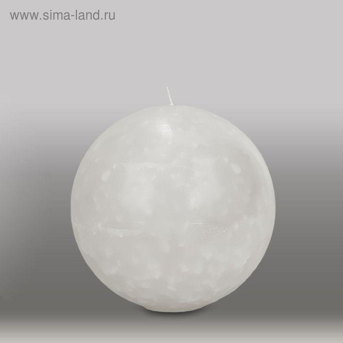 "Свеча шар ""Мрамор"", d=150мм,  белый"