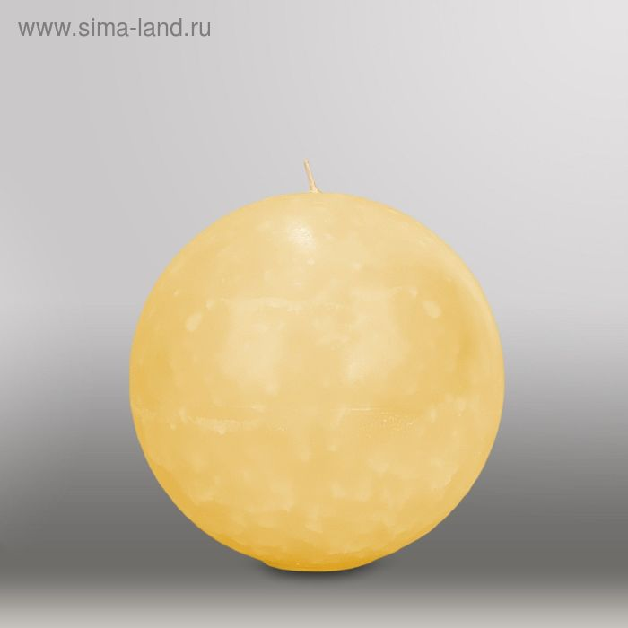 """Свеча шар """"Мрамор"""", d=150мм,  желтый"""