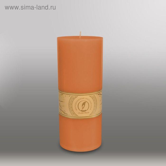 "Свеча цилиндр ""Классика"", 100x255мм,  терракотовый"