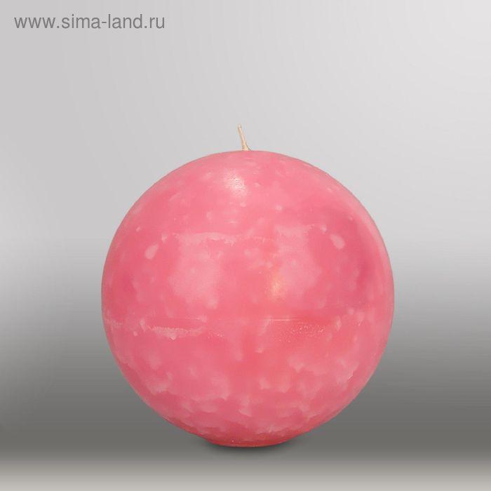 "Свеча шар ""Мрамор"", d=150мм,  розовый"
