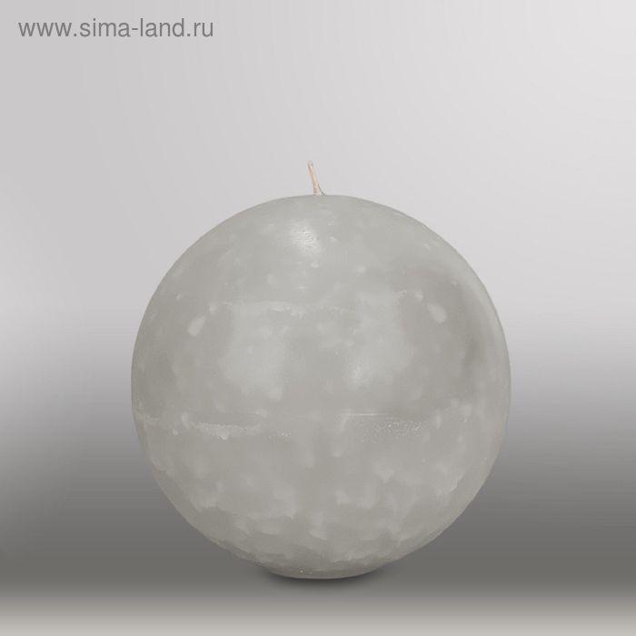 "Свеча шар ""Мрамор"", d=150мм,  дымчато-голубой"