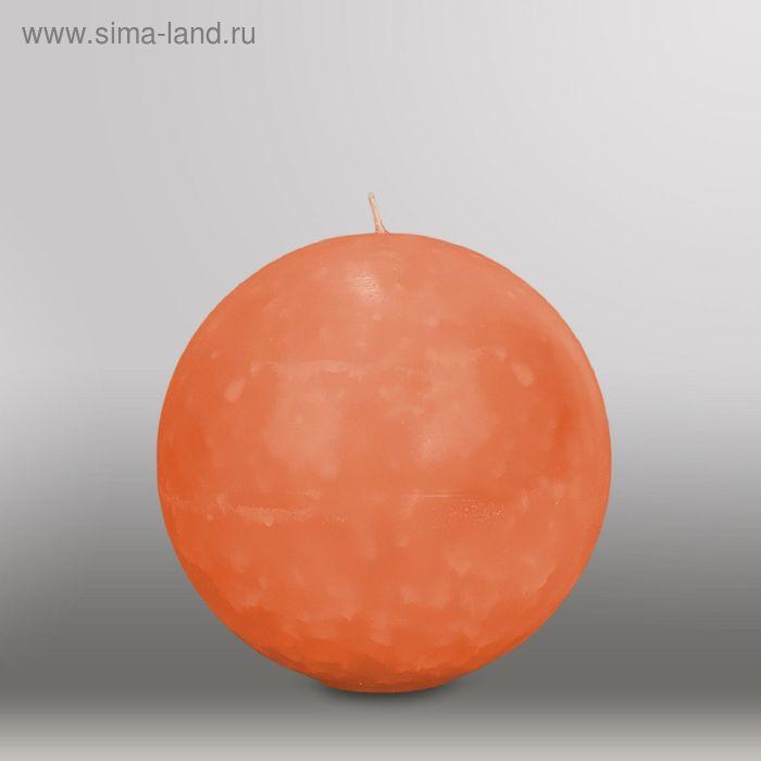 "Свеча шар ""Мрамор"", d=150мм,  облепиховый"
