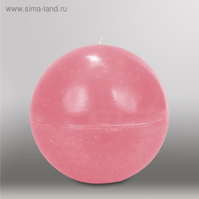 "Свеча шар ""Мрамор"", d=200мм,  розовый"