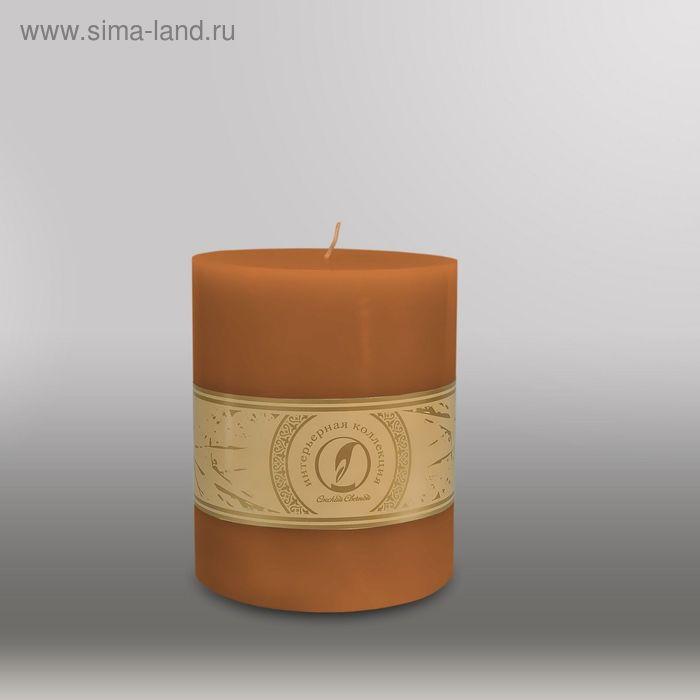 """Свеча цилиндр """"Классика"""", 120x150мм,  коричневый"""