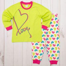 Пижама для девочки AZ-405 МИКС рост 80-86 (1, 6 лет)