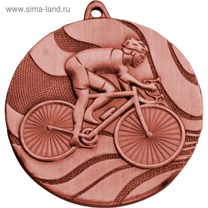Медаль Велосипедист MMC5350/B, d=50 мм