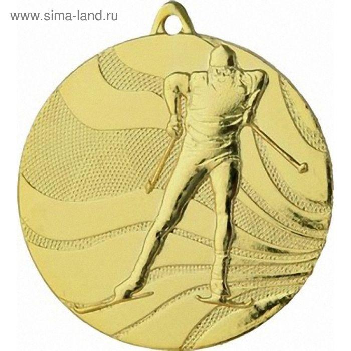 Медаль Лыжи MMC3350/G, d=50 мм