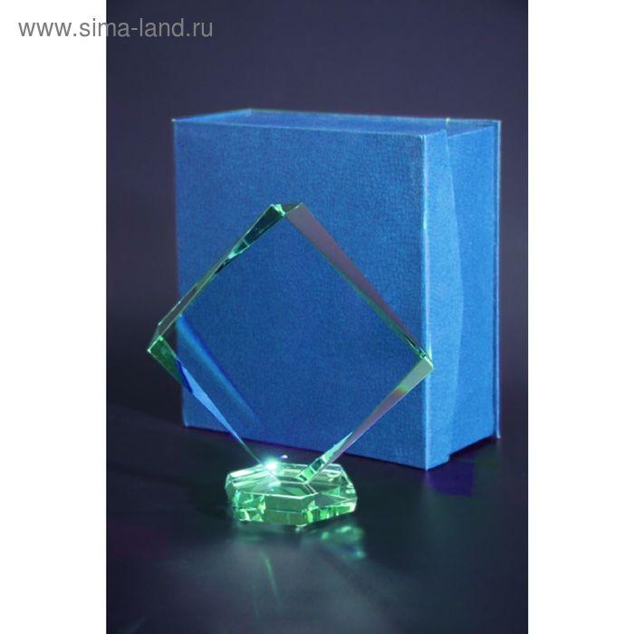 Награда стеклянная 210х200 мм, футляр в комплекте G022B/FP