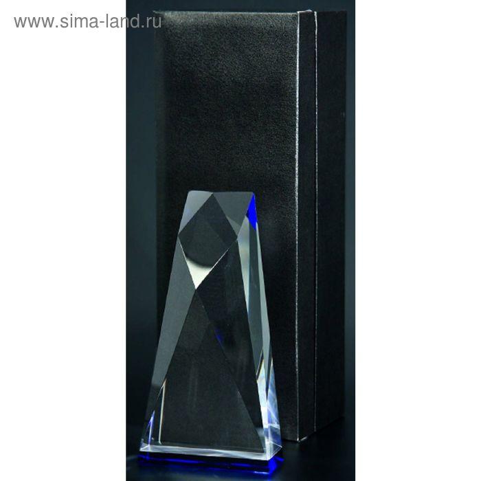 Награда хрустальная h=19 см, футляр в комплекте C021-19