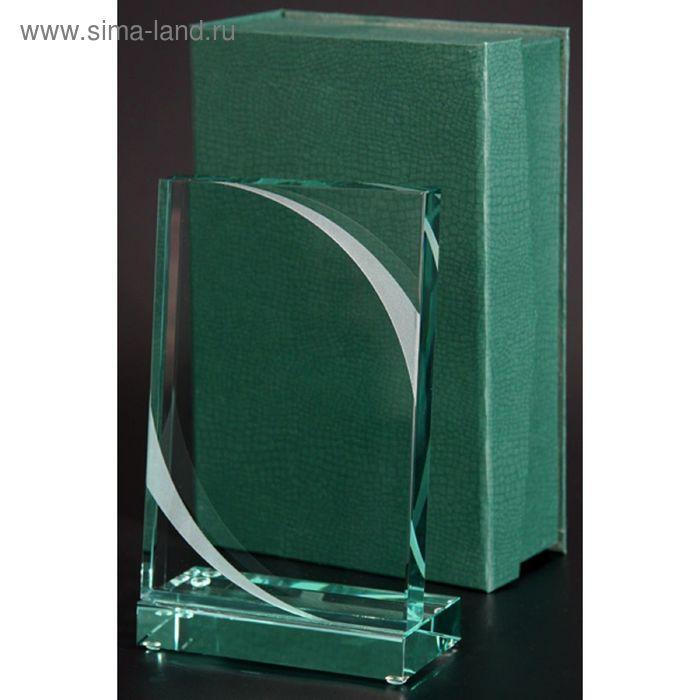 Награда стеклянная 185х110 мм, футляр в комплекте G023C