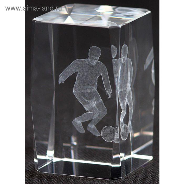 Награда хрустальная Футбол 50х50х80 мм, в комплекте коробка KR5080/SOC