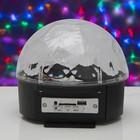 Световой прибор Радужный шар, диаметр 17,5 см, с музыкой, Bluetooth, V220