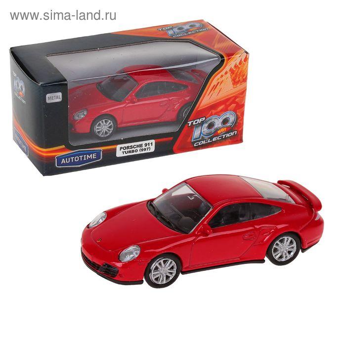 """Машина металлическая """"Porsche 911 Turbo (997)"""" 3'' цвета микс 34237"""