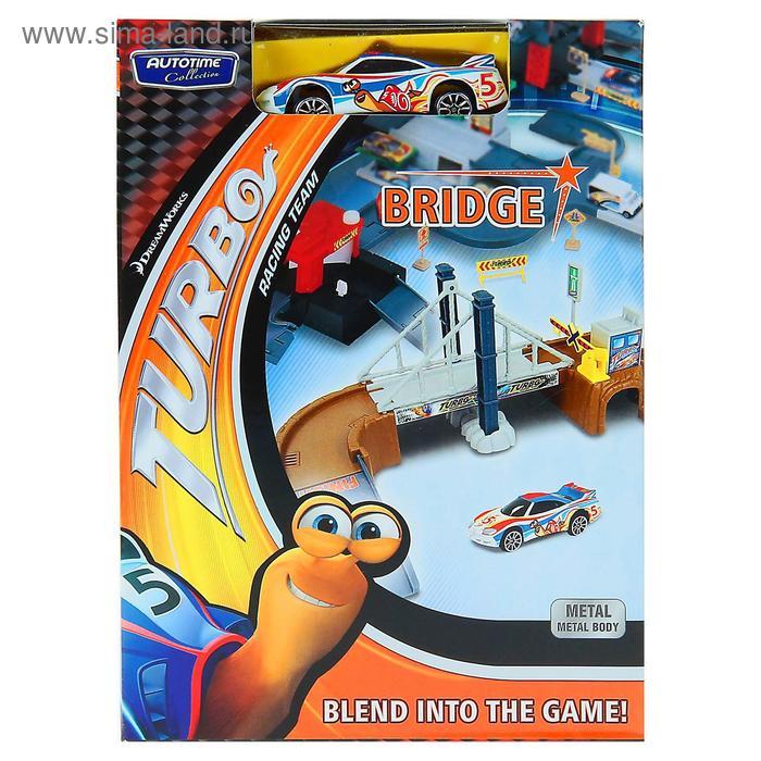 "Набор ""MEGAPOLIS"" Turbo мост с маш. (DreamWorks) 1:60 76743/02-RUS"