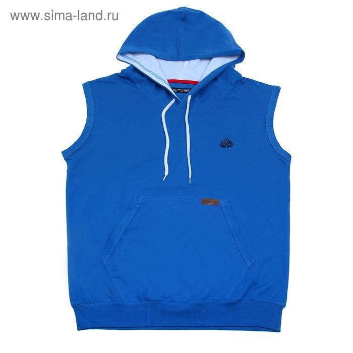 Жилет спортивный мужской 01М015 синий, р-р 56