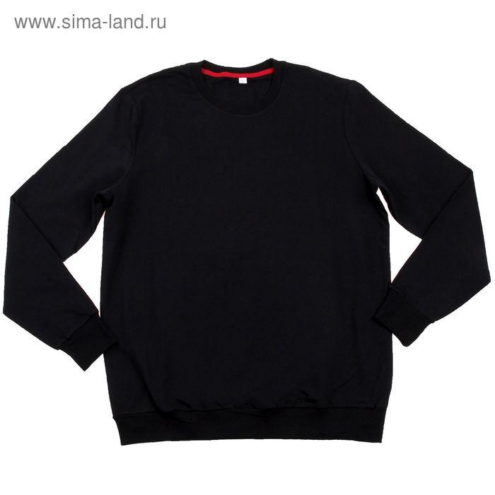 Толстовка мужская MF08-008 чёрный, р-р 52