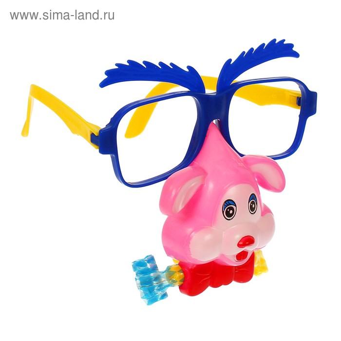 """Карнавальные очки """"Собачка"""" с носом и язычком, цвета МИКС"""