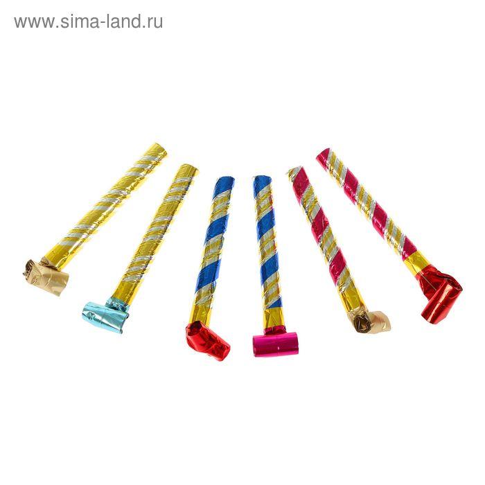 Карнавальный язычок голография, (набор 6 шт) цвета МИКС