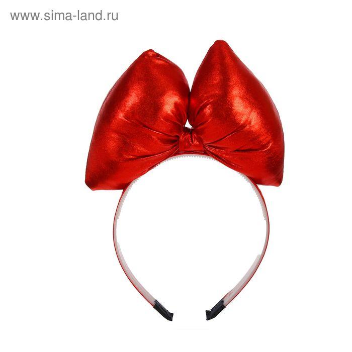 """Карнавальный ободок """"Бант"""", цвет красный"""