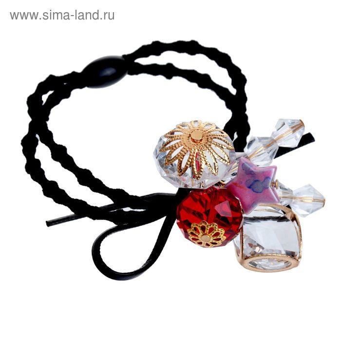 """Резинка для волос """"Богемия"""", кристаллы со звёздочкой"""