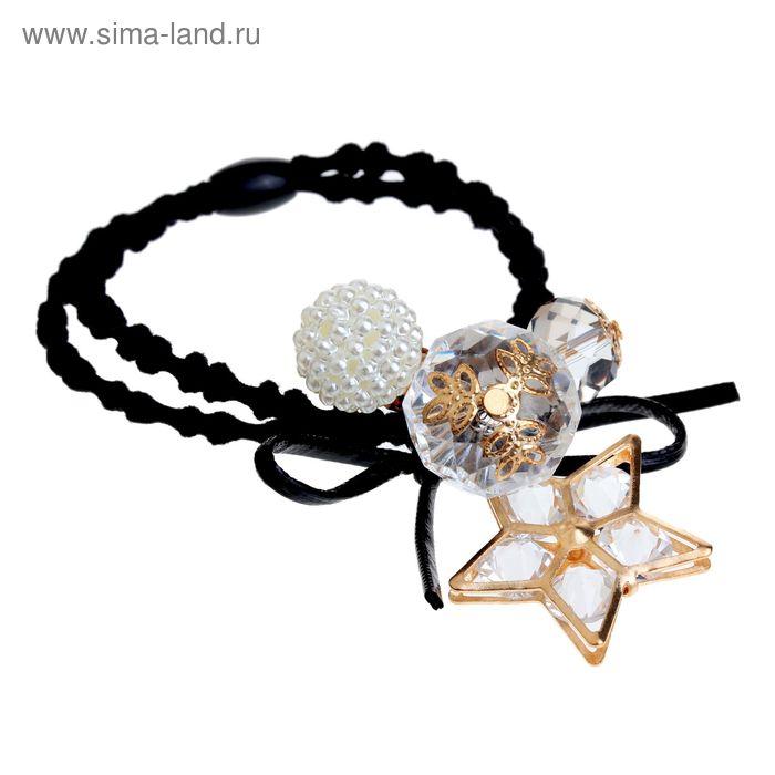 """Резинка для волос """"Богемия"""" звезда с кристаллами"""