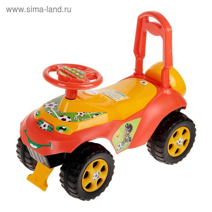 """Машинка для катания """"Автошка"""" с музыкальным рулем 013117/09"""