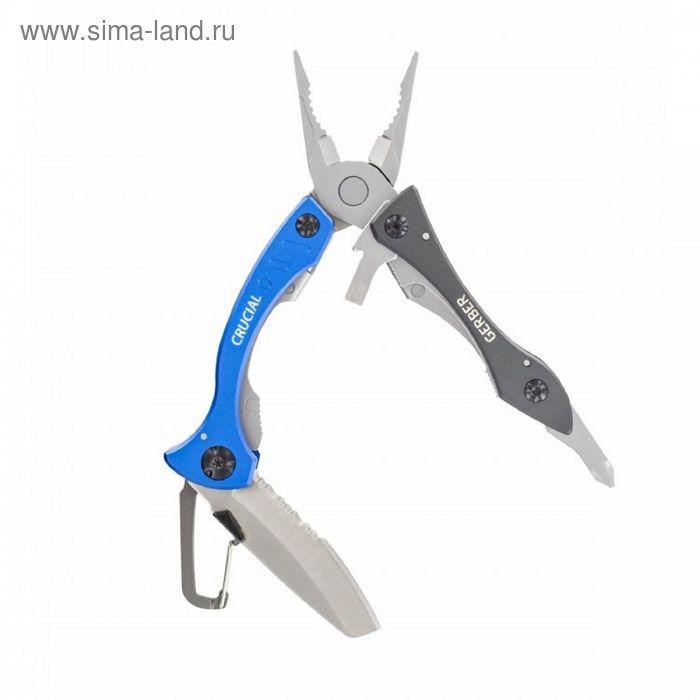 Мультитул Gerber Crucial Tool, синий, блистер