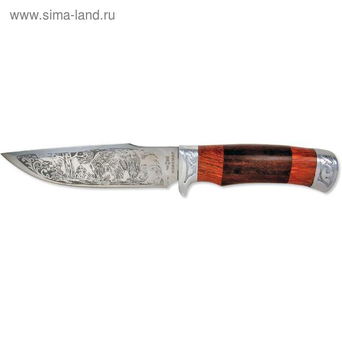 """Нож нескладной H-177 """"Ножемир"""", рукоять-дерево, сталь 40х13"""