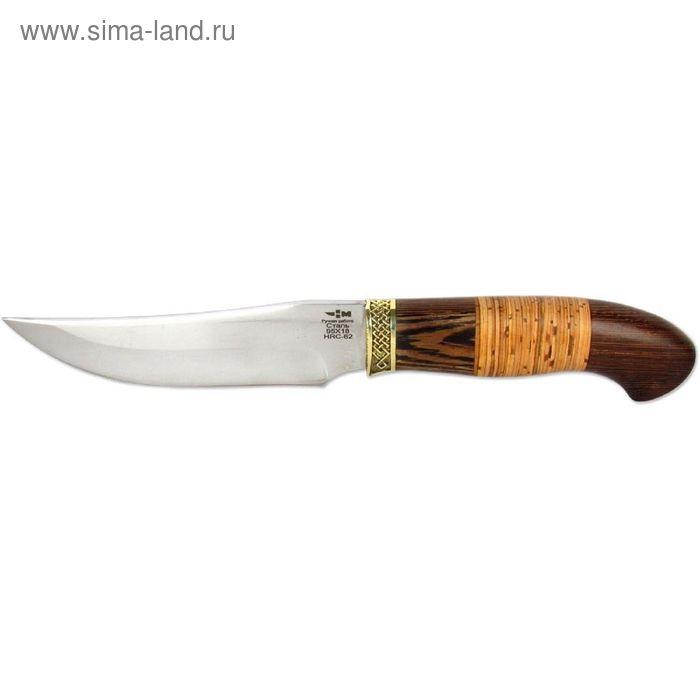 Нож нескладной кованая сталь ГУСАР (3366)к, рукоять-венге/береста, сталь 95х18
