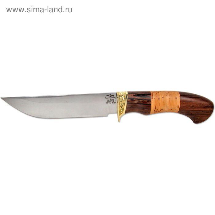 Нож нескладной кованая сталь ЛЕСНИК (3345)к, рукоять-венге/береста, сталь 95х18