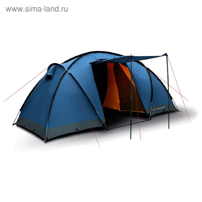 Палатка Trimm Family COMFORT II, синяя 4+2, (150+150+150) см * 230 см *190 см