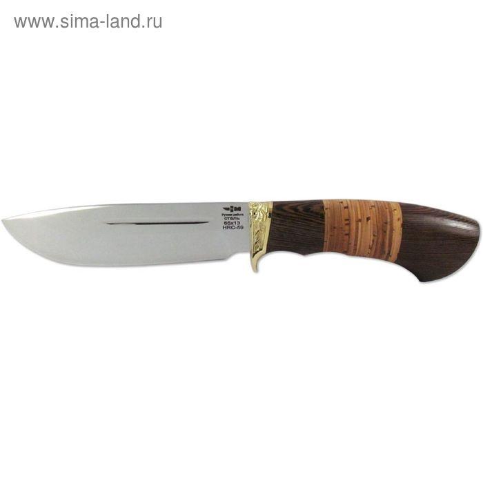 Нож нескладной НМ-6 (5186)н, рукоять-венге/береста, сталь 65х13