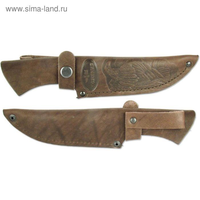 Чехол кожаный для нескладного ножа №4, 26 х 5,5 х 4,5, длина клинка 13,5-14 см, ширина 3,7 см 163736