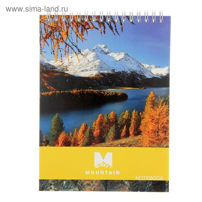 Блокнот А5, 80 листов на гребне Mountain, микс