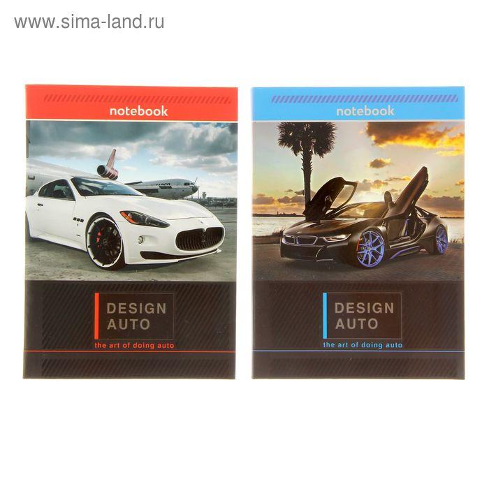 Бизнес-блокнот интегральная обложка А6, 64 листа Design auto, матовая ламинация, выборочный лак, микс
