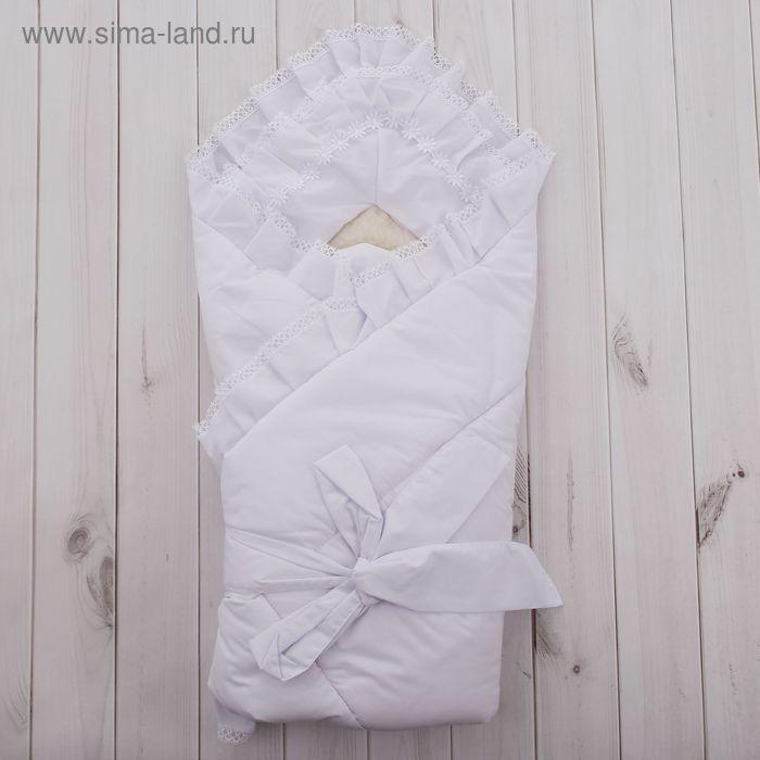 Конверт-одеяло меховой, рост 62 см, цвет белый К92м