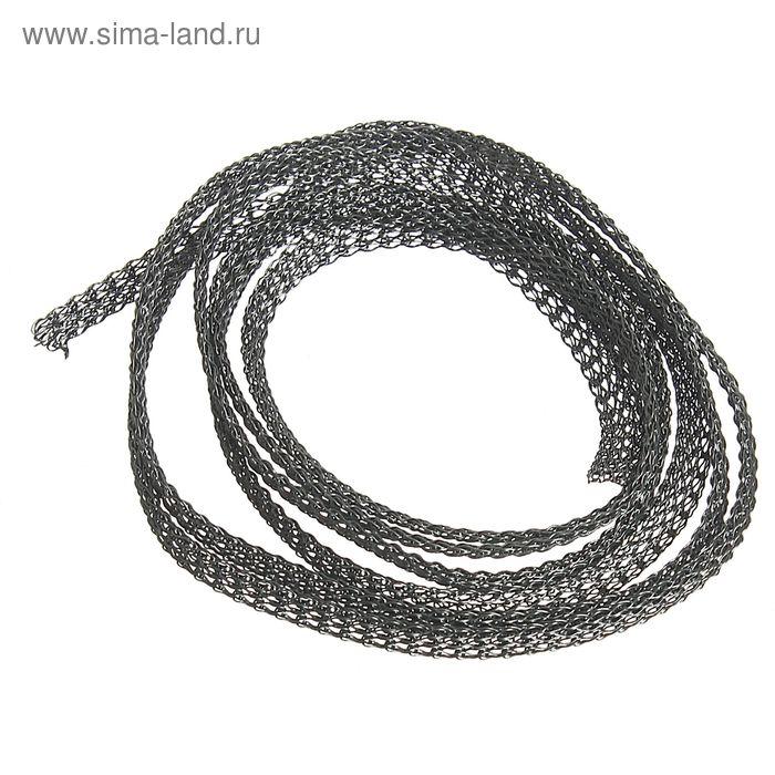 Цепочка вязаная декоративная ENJ, ширина - 4,8мм, под гематит