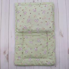 Комплект в коляску (матрасик 70*40 см, подушка 30*40 см), цвет МИКС К20