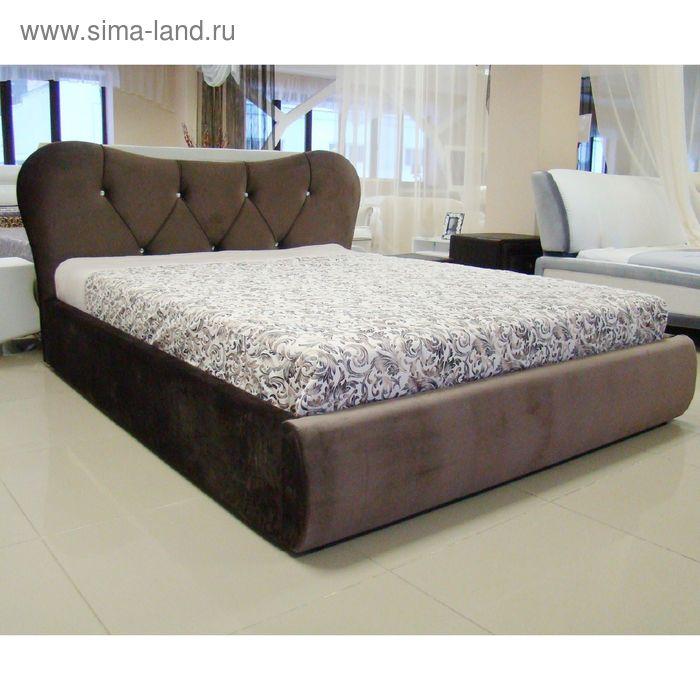 Кровать Феодосия 160 с орт. Основанием Коричневый велюр