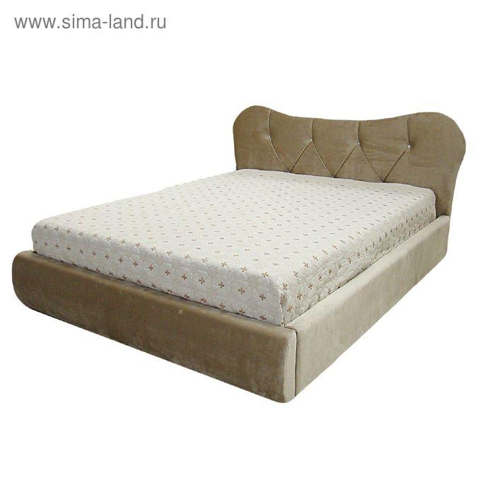 Кровать Феодосия 140 с орт. Основанием Бежевый велюр