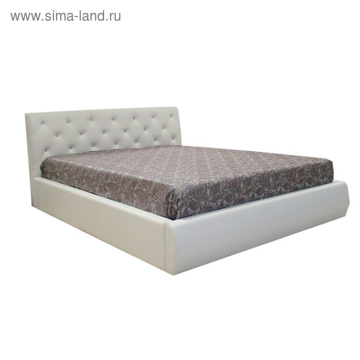 Кровать Флоренция 140 с орт. Основанием Кож.зам белый