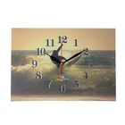 """Часы на холсте прямоугольные """"Серфингист"""", 25х35 см"""