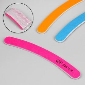 Пилка наждачная для ногтей, бумеранг, абразивность 200, цвета МИКС Ош